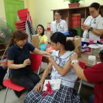 Grade 7 Students Received MrTd Vaccine